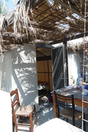 Santorini Camping: Onze tent