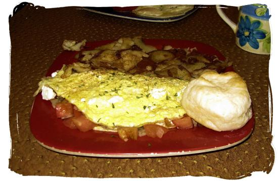 Portobello Diner: Greek omelet