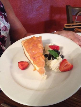 The Wild Olive : Peach cheesecake...very tasty!