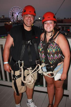 Myrtle Beach Zipline Adventures: Father daughter dare