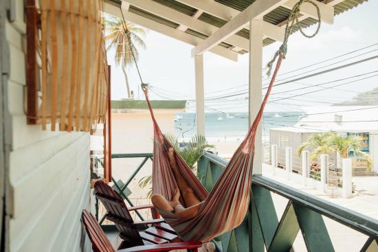 Hostel Pachamama: Enjoy views of the San Juan bay from hammocks