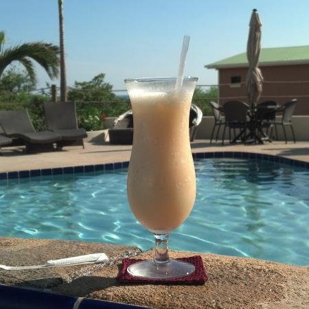 Poolside mixed drink!