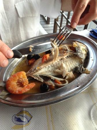 Bagno Ambra: Il pesce l'ha sfilettato Simona! Bella e brava!