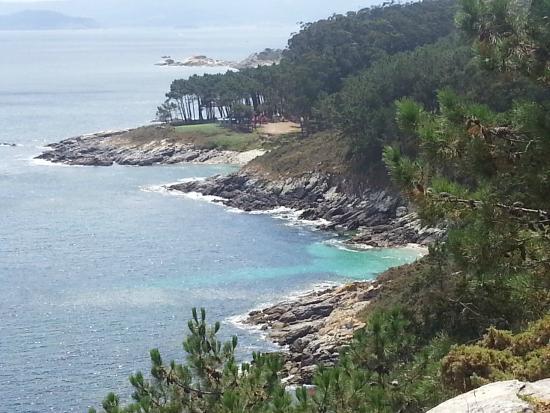 Islas Cies: Vistas a la costa