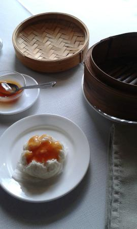 East : Steamed Chicken Dumplings with Sweet and Sour Sauce