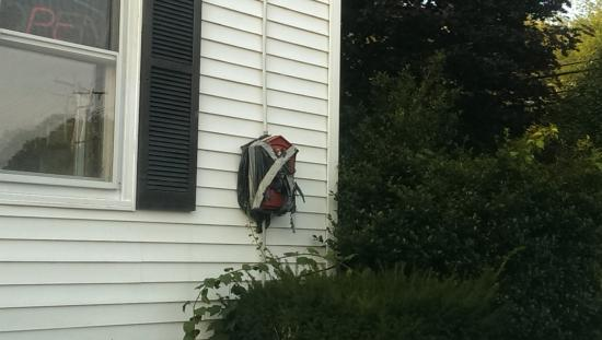 Uxbridge, MA: fire alarm?  isn't this illegal?
