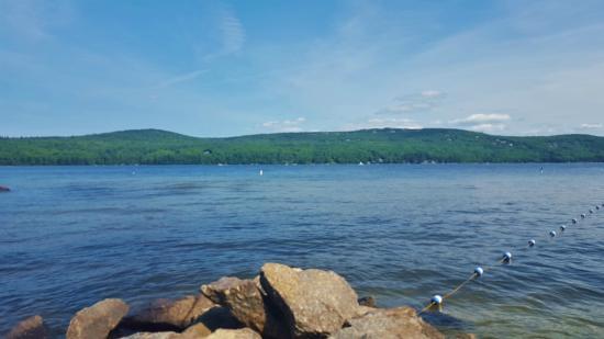 Mount Sunapee, NH: Swimming at Lake Sunapee