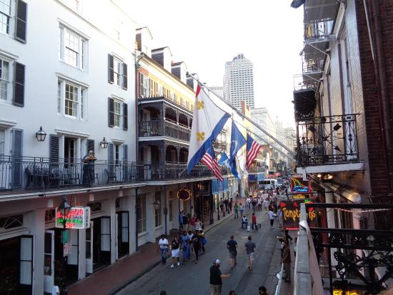 bourbon street balcony new orleans french quarter. Black Bedroom Furniture Sets. Home Design Ideas