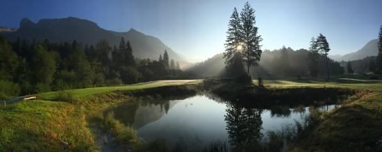 Golf Club Bovec : Hole no 3 at the sunrise