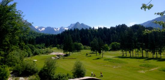 Golf Club Bovec : The view from the 3th tee