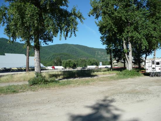 Haugan, MT: looking out from RV park toward highway