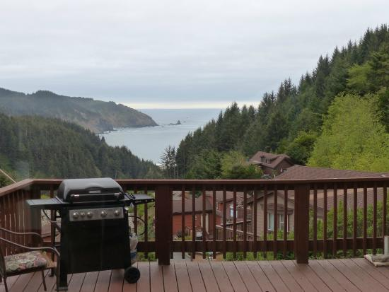Whaleshead Beach Resort: View from the deck and hot tub