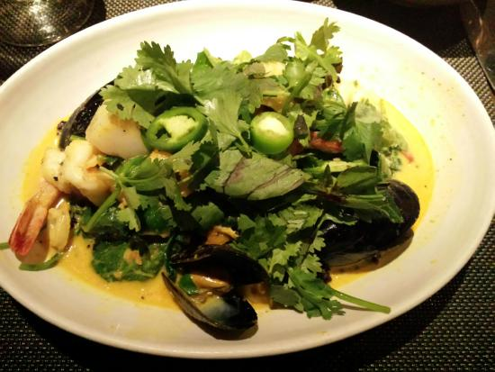 Bali seafood curry - Picture of Akasha Restaurant & Bakery, Culver ...