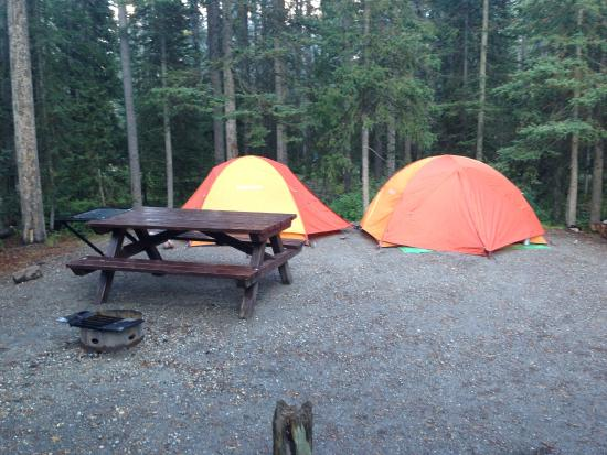 Lake Louise Campground: campsite J13