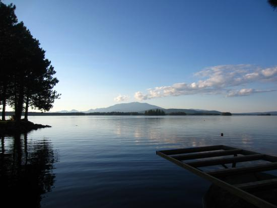 Twin Pine Camps at New England Outdoor Center: view of Katahdin from just outside our cabin