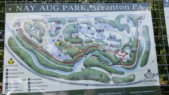 Map of park Picture of Nay Aug Park Scranton TripAdvisor