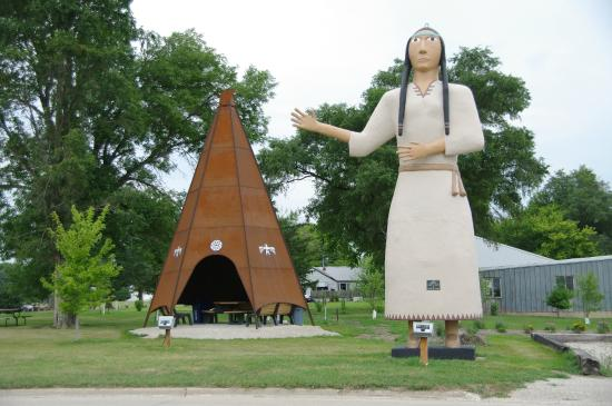 Pocahontas Statue on Route 3 in Pocahontas, Iowa