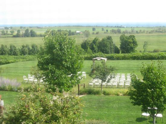 Tug Hill Vineyards: setup for wedding