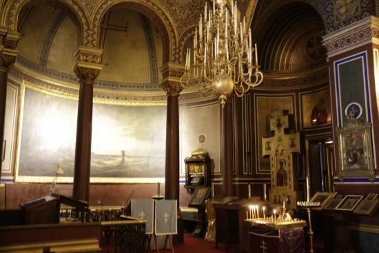 Παρίσι, Γαλλία: PARIS : Eglise russe: Jésus marchant sur les flots (d'Alexis Bogoluboff).