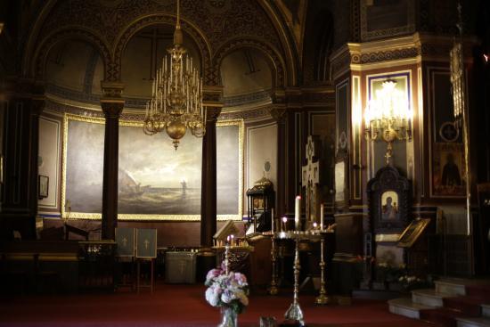 Παρίσι, Γαλλία: PARIS : Eglise russe: Le sermon de Tibériade (Alexis Bogolubokoff - 1872),