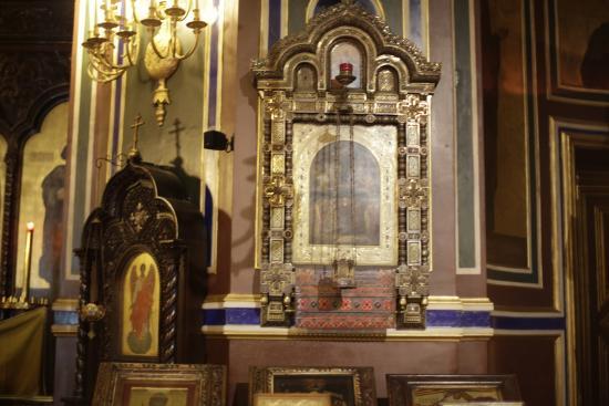 Παρίσι, Γαλλία: PARIS : Eglise russe (Cathédrale orthodoxe Alexandre Nevsky). Icône.