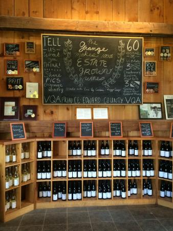The Grange of Prince Edward Vineyards and Estate Winery: Many options for your tasting pleasure.