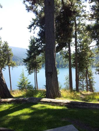 Top of the North Idaho Centennial Trail. A nice park with beautiful views of Couer d'Alene Lake.