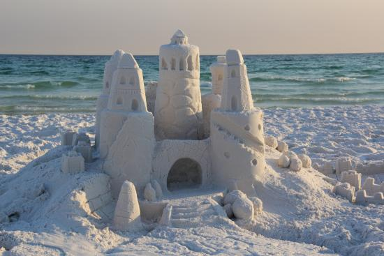 Our First Sand Castle Without