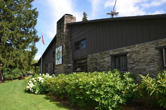 The Cataloochee Ranch: The main dining hall