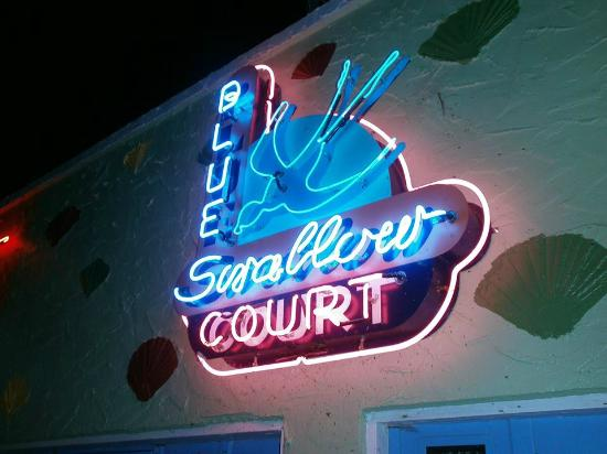 Blue Swallow Motel: Blue Swallow Neon Sign