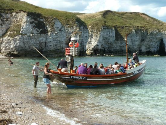 The life boat run down to the sea picture of north for Fishing boat trips