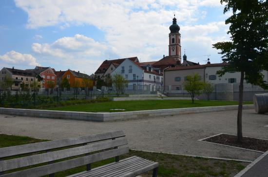 Roding, Germany: neue Uferpromenade