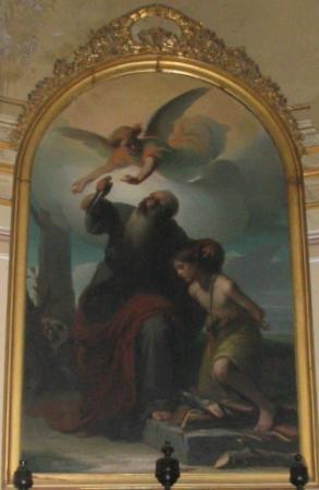 Costigliole d'Asti, Ιταλία: Chiesa Nostra Donna di Loreto - Pittatore  sacrificio di Isacco