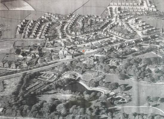 West Yorkshire, UK: A 1953 Aerial photo of the area