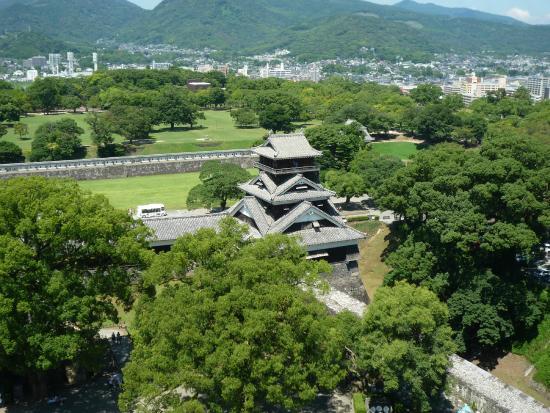 Kumamoto Castle: 本丸からの眺め