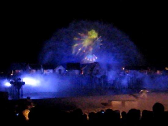 Crane Dance at Resort World Sentosa: лазерная рыбка из мультика
