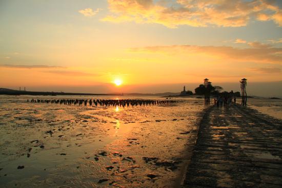 Jiangong Island: 落日