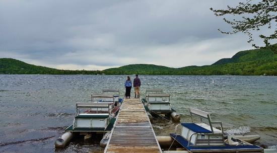 Branbury State Park: Lake Dunmore and the paddle boats for rent.