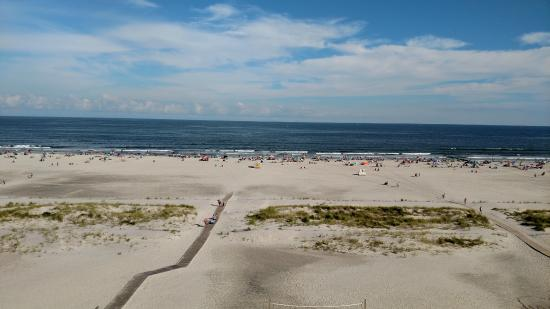 Wildwood Beach: View of beach from Hotel room