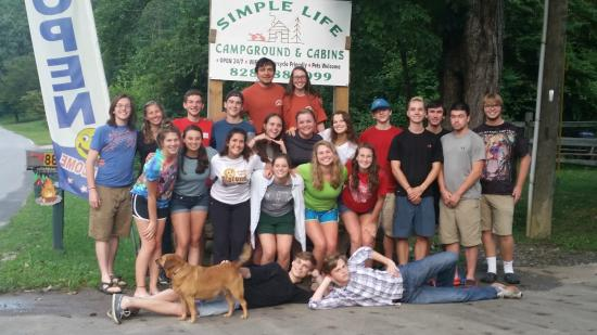 Simple Life Campground and Cabins: Ohio State family members vist August 2015