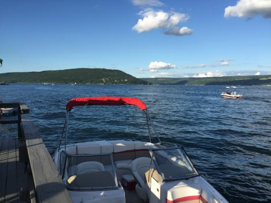 Waterfront Restaurant View Of The Two Top Parts Y Keuka Lake