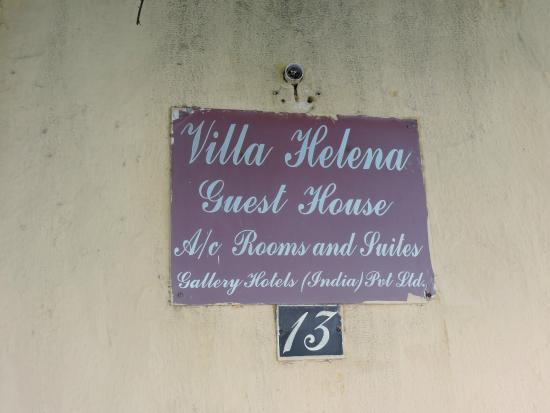 Villa Helena: Enseigne