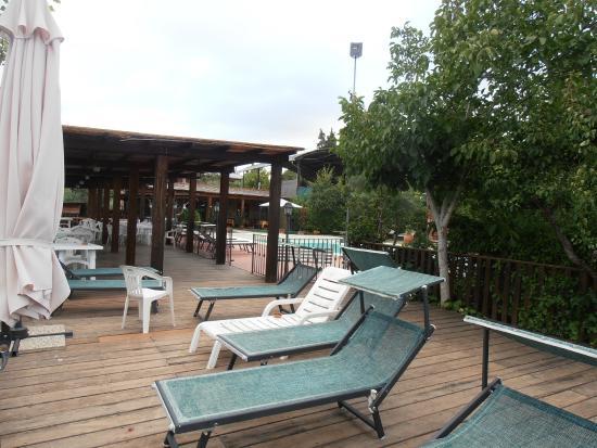 Agriturismo Cameli: terrazza tra piscina e lago