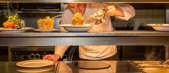 Toome, UK: Heed Chef Plating Up