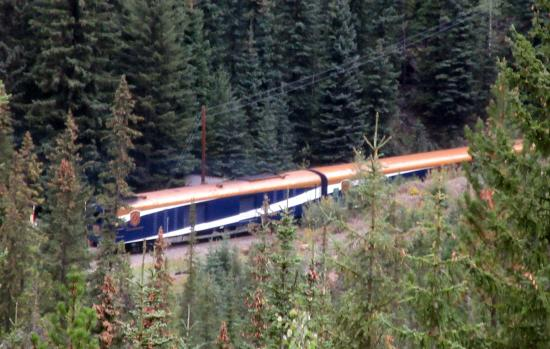 Spiral Tunnels Train On Tracks In Tunnel Area Yoho National Park Kootenay