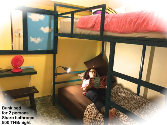 Tid Tarad Hostel Hua Hin : Bunk Bed (for Two) share Bathroom Room#2