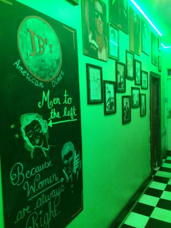 JB's American Diner: The hallway to the toilets