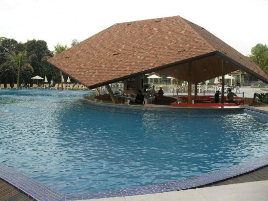 Recanto Cataratas Thermas Resort & Convention: La barra que comunica con la piscina del hotel