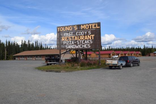 Tok, AK: Anfahrt zum Hotel