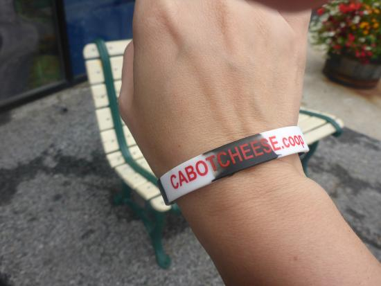 Cabot, VT: admission bracelet (you could also choose a button)